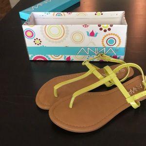 Anna yellow sandals